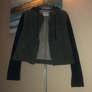 Grey denim/sweatshirt jacket